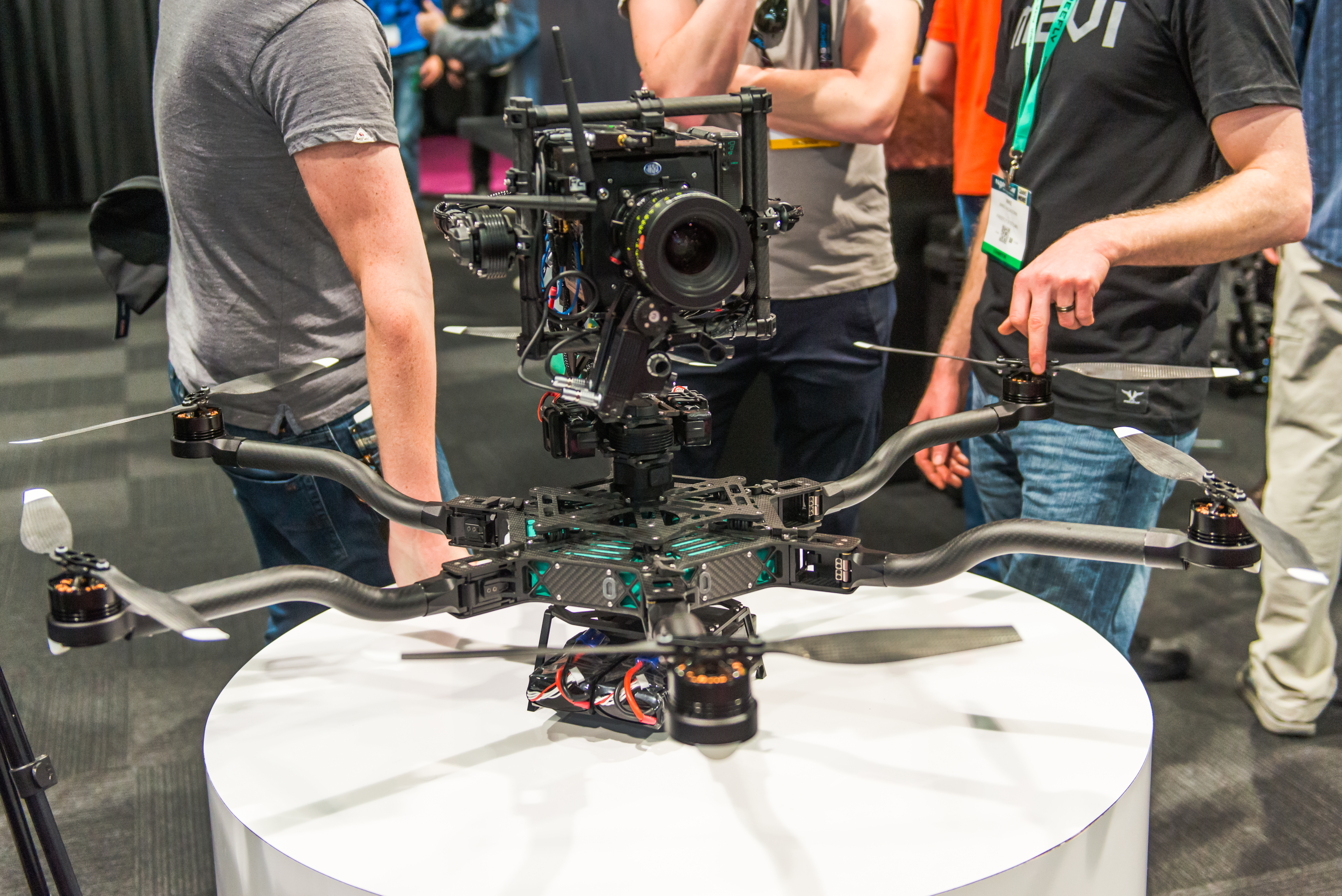 The ALTA Drone with a Movi on top.